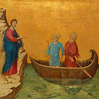 The Calling of the Apostles Peter and Andrew, Duccio (1308-1311), Public Domain