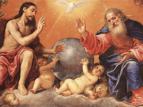 The Holy Trinity, Antonio de Pereda (1611 - 1678), Public domain