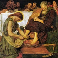 Jesus Washing Peters Feet, Ford Madox Brown (1821–1893), Public Domain