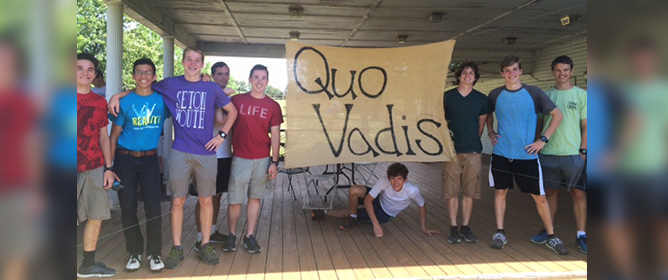 Quo Vadis? High School Discernment Retreat